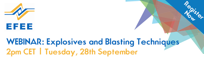 EFEE Webinar on Explosives and Blasting Techniques | Register Today